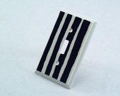 Wooden Zebra Print Light Switch Plate
