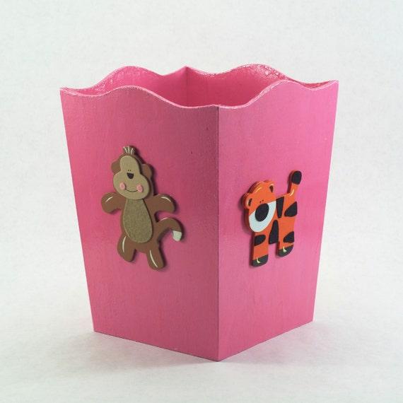 Animal Theme Waste Basket (any color)