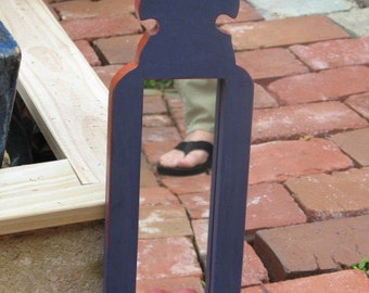 Mirror Small Painted - Small wood mirror - Blue - Small painted mirror