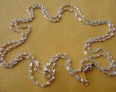SALE--35 pcs17 inch  Silver PlatedChain Necklace