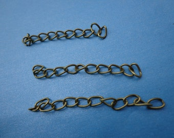 50pcs of 4.5-5cm Long x 3mm wide Exquisite antique bronze  Tail Chain