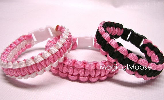 Breast Cancer Pink Bracelet Military Paracord Survival