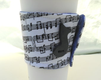 Re-usable Music Note Cup Cozy