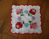 Kalocsa embroidery doily hand embroidered with traditional hungarian motif