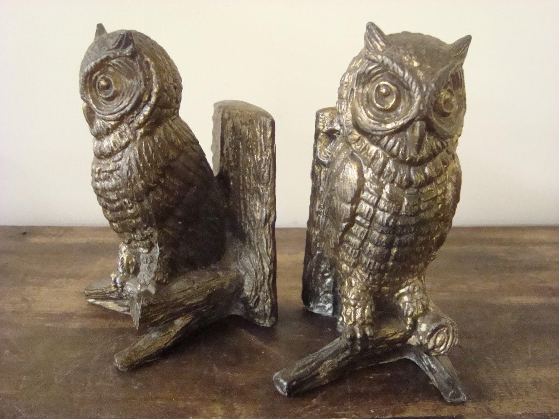 Vintage brass owl bookends hampton va - Antique brass bookends ...