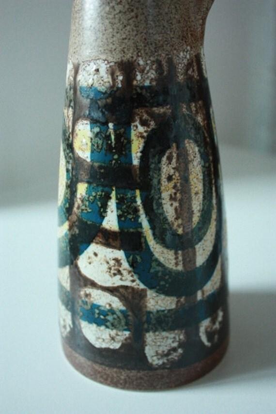 RESERVED Suzi Lapid Vase Israel Mid Century Studio