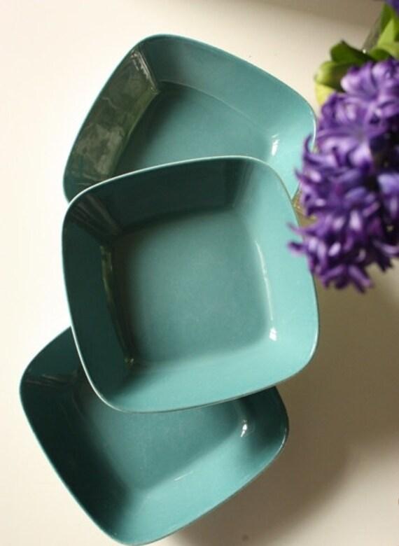 Figgjo Flint Norway Three Dishes Turquoise