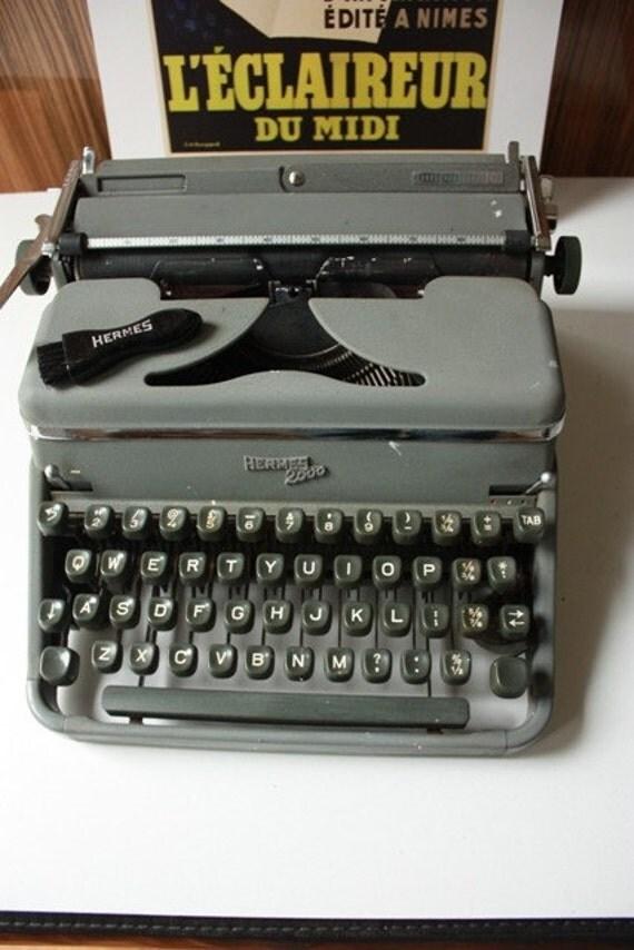 Vintage Hermes 2000 Typewriter Switzerland