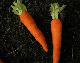 Spun cotton carrots