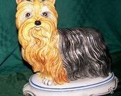 Vintage Yorkshire Terrier Statue