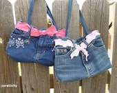 PDF Sewing Pattern The Girl Purse from Upcycled Jeans