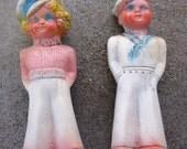 Pair Carnival Chalkware Sailors
