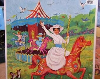 1973 Whitman Tray Puzzle Mary Poppins Disney 50th