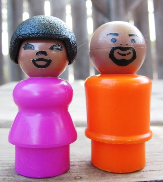 Fisher Price Little People Sesame Street Gordon and Susan