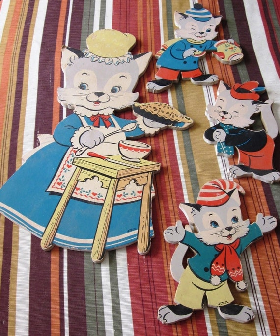 1950's Nursery Pin Ups Cats by The Dolly Toy Company