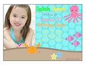 Girls UNDER the SEA  Printable Photo Party Invitations- PERSONALIZED - Birthday