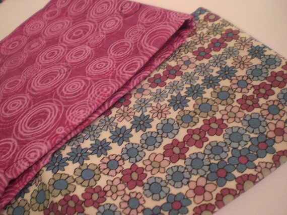 Spring Flowers and Circles in Pink and Blue Fat Quarter Scrap Pack