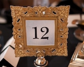 Painted Baroque Style Table Numbers