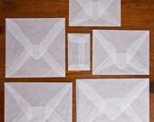 """5 3/4"""" Square Glassine Envelopes"""