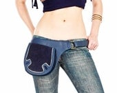 Navy leather bags for women, leather cross body bags, leather belt pouch