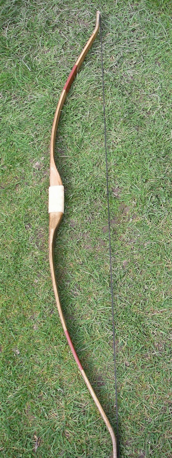 Hickory Recurve Bow with Sinew and Rattlesnake Skin Backing