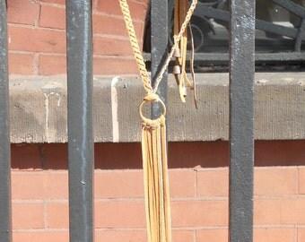 Ilan Leather Fringe Necklace
