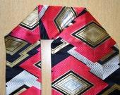 Red, Gold, Silver & Black Japanese Obi Home Decoration Piece, Free Postage AUS