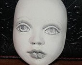 Sculpted Paperyclay Doll Face Mask