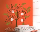 Wall Decal Vinyl Removable Home Decor Sticker - Blooming Tree - HW006