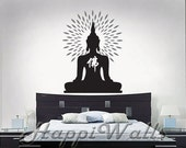 Wall Decal Vinyl Removable Home Decor Sticker  - Glowing Buddha - HW037