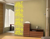 Bamboo Tree Wall Decal, Vinyl Bamboo Tree Decal Sticker, Vinyl Removable Home Decor