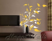 Wall Decal Vinyl Removable Home Decor Sticker - Floral Plant - HW002
