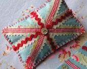 SEWING  KIT - DIY Union Jack Pin Cushion  -  Felt and Cath Kidston Fabric
