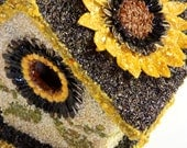 Birdhouse. Sunflower Collection.  Custom Designed with Various Seeds and Materials.- Non Edible