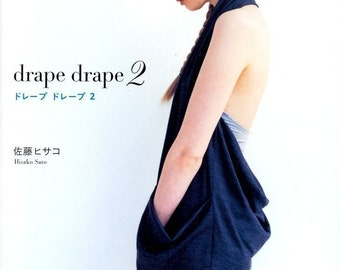DRAPE DRAPE DRESSES Vol 2 by Master Hisako Sato- Japanese Sewing Craft Pattern Book