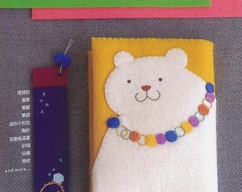 71 Handmade Felt Accessories Projects Japanese Craft Book (In Chinese)