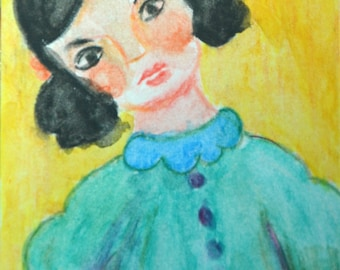 Original ACEO Watercolor Painting- Wonder