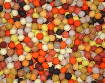 50pcs Fall Colors Felt Balls (2cm)