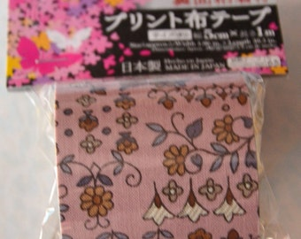 Japanese Fabric Tape- Flower Motifs
