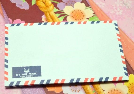A set of 100 Vintage Style Air Mail /Par Avion Envelopes