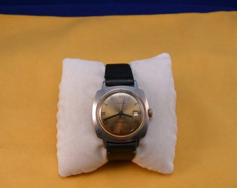"""GDR (Germany) """"RUHLA""""  wrist watch  gold dial Ultra rare 1950-1960 VERY perfect condition"""
