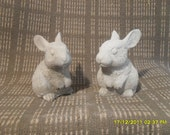 Small concrete rabbits outdoor for all year around