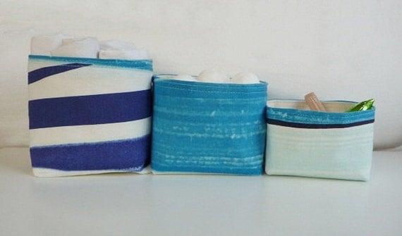 Marimekko Canvas Baskets - Set of 3 - Marimekko Matkalla Maalee Fabric - check out our pillow to match
