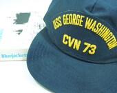 Vintage CVN 73 Baseball Cap-USS George Washington Navy Issue Circa 1992
