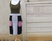 Reserved - Eco-Friendly, Upcycled Skirt / Top / Size Medium. READY TO SHIP.
