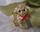 Lamb Sheep Brooch Vintage Gold Tone Animal Brooch Vintage Pin