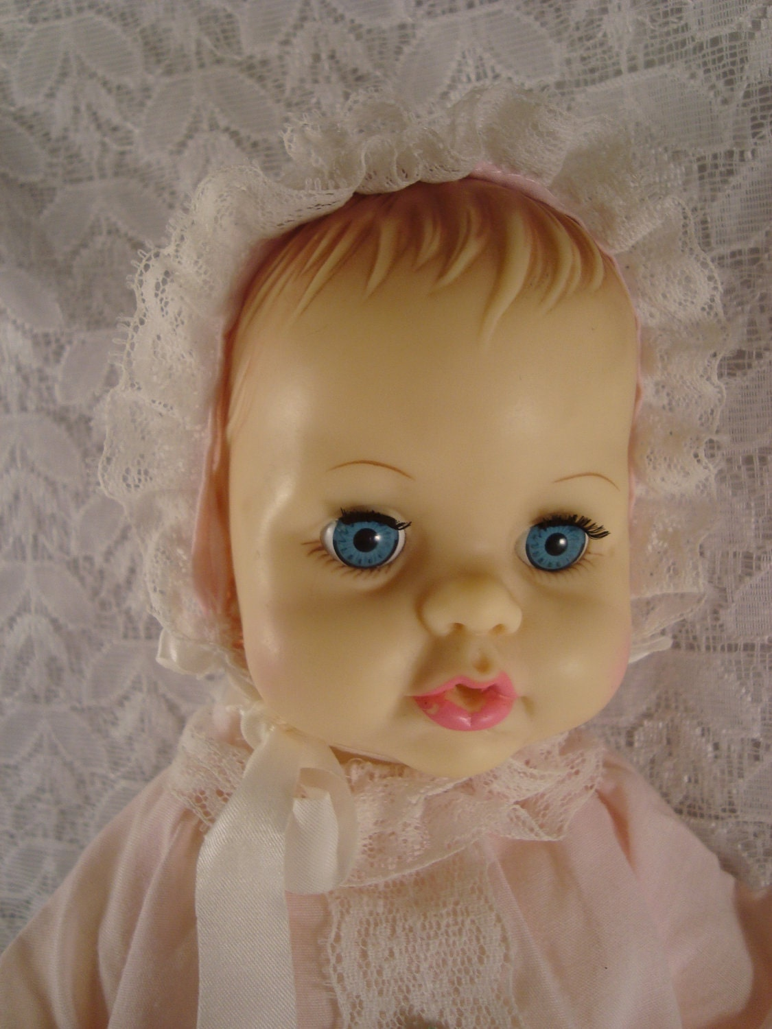 Baby Doll Ideal Toy Corp 1971 Vintage Plastic Girl Doll With
