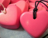original crayon necklace, bubblegum pink heart, great for loot bags, super cool & unique