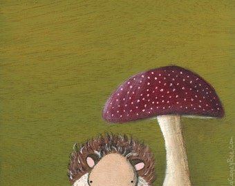 Hedgehog art print - cute art for kids rooms
