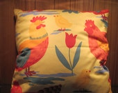 Cushion handmade from vintage Laura Ashley 'Hens'  fabric approx size 45cms x 45cms